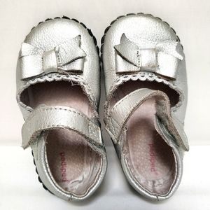 Silver Pediped Girls Baby Mary Janes